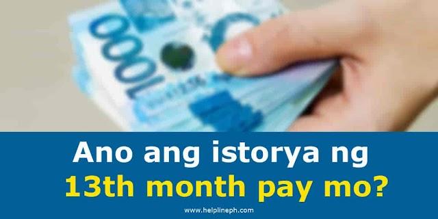 Ano ang istorya ng 13th month pay mo?