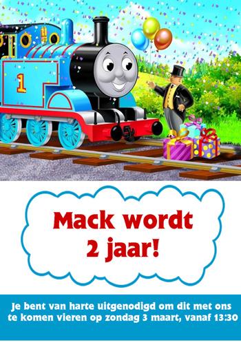 Thomas De Trein Feestje Macks Tweede Verjaardag Mizflurry