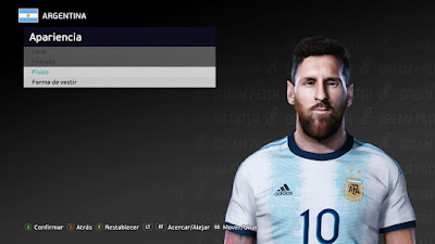 PES 2021 Faces Lionel Messi by Martoluthor