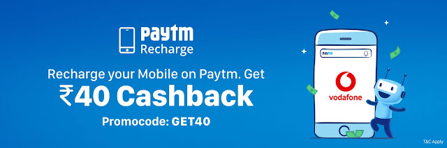Paytm Vodafone Recharge Offer