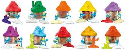 Все 10 домиков со смурфиками из Happy Meal Smurfs