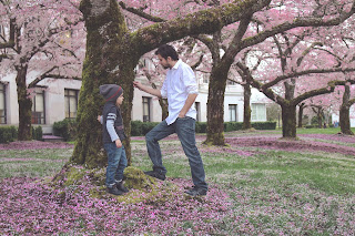 a dad disciplining his daughter