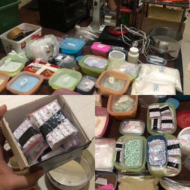 Ribuan Pil Ekstasi Disita Di Rumah Produksi Narkotika
