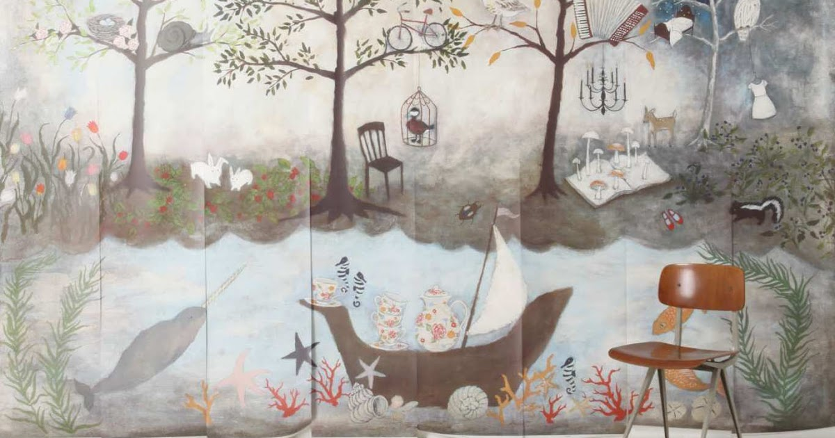 A Bright Space Enchanted Forest Mural