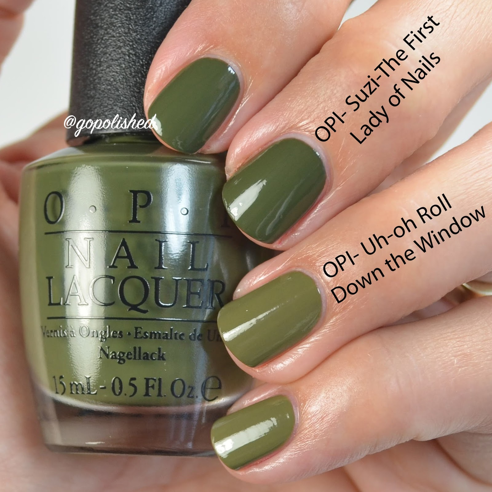 Go Polished OPI Washington DC Collection Comparisons
