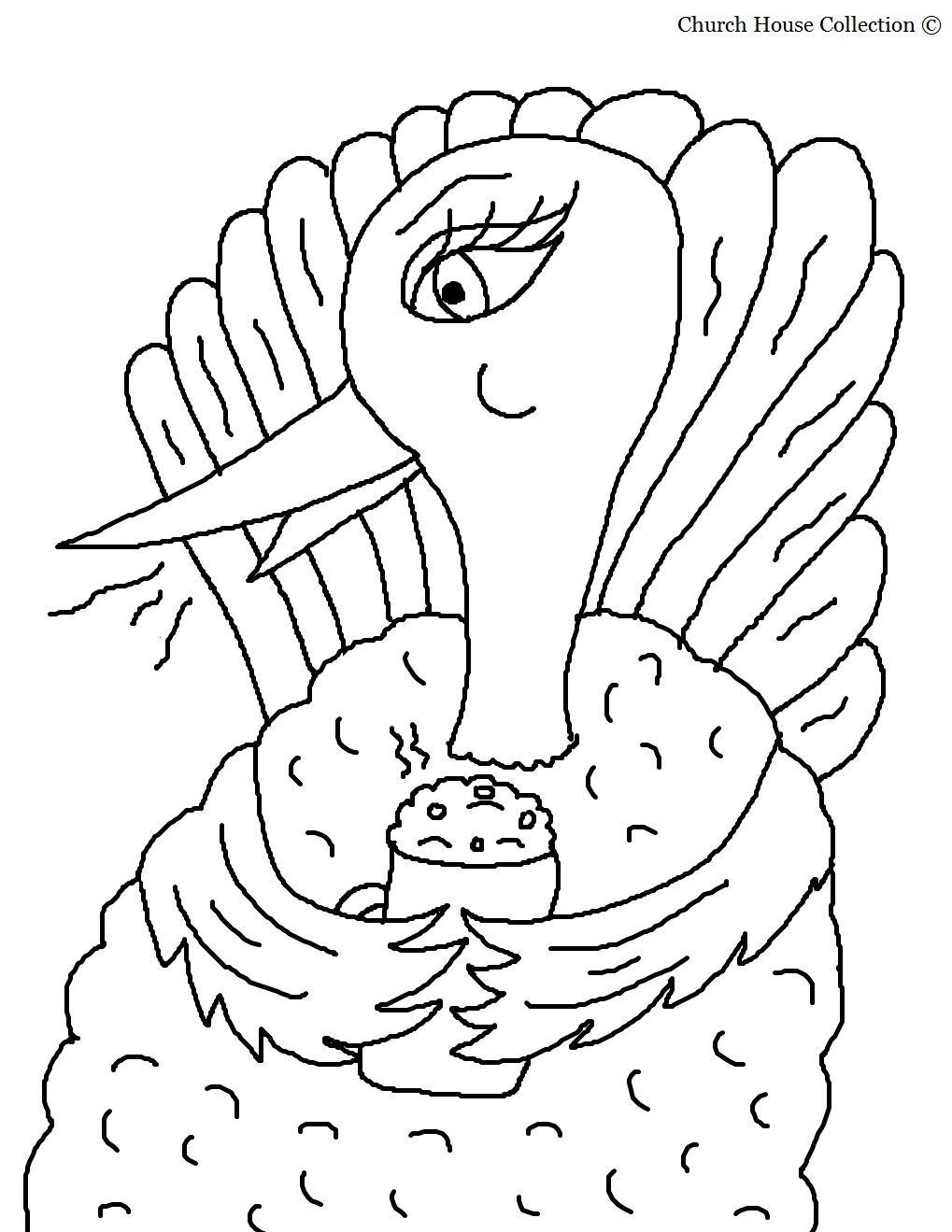 turkey drinking hot chocolate coloring page