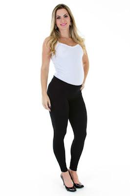 Calça para gestante, estilo legging.