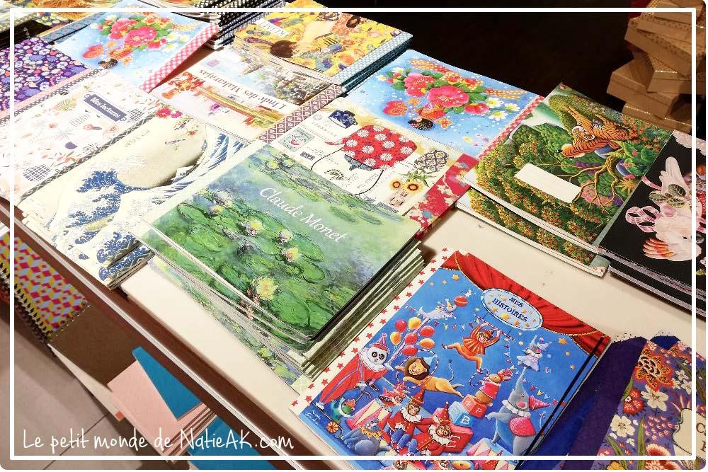 cahier à thèmes Peinture Monet, Klimt et Hokusai