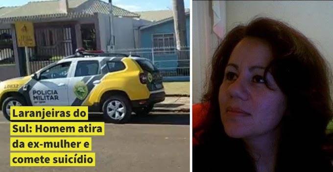 Laranjeiras do Sul: Homem atira na ex-mulher e comete suicídio