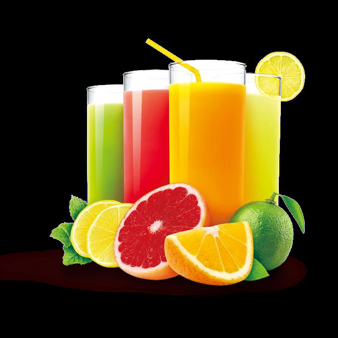 Ice cream Juice Soft drink Milkshake, fruit juice, four assorted-flavor juices in glass, food, citrus, orange png free png