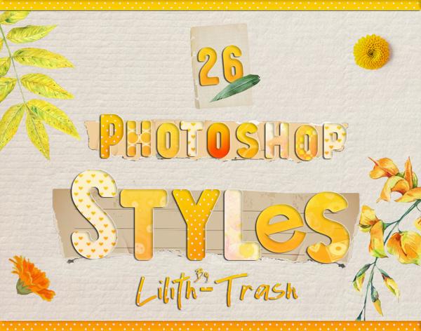 Photoshop Styles free download 2019 Autumn Text Styles