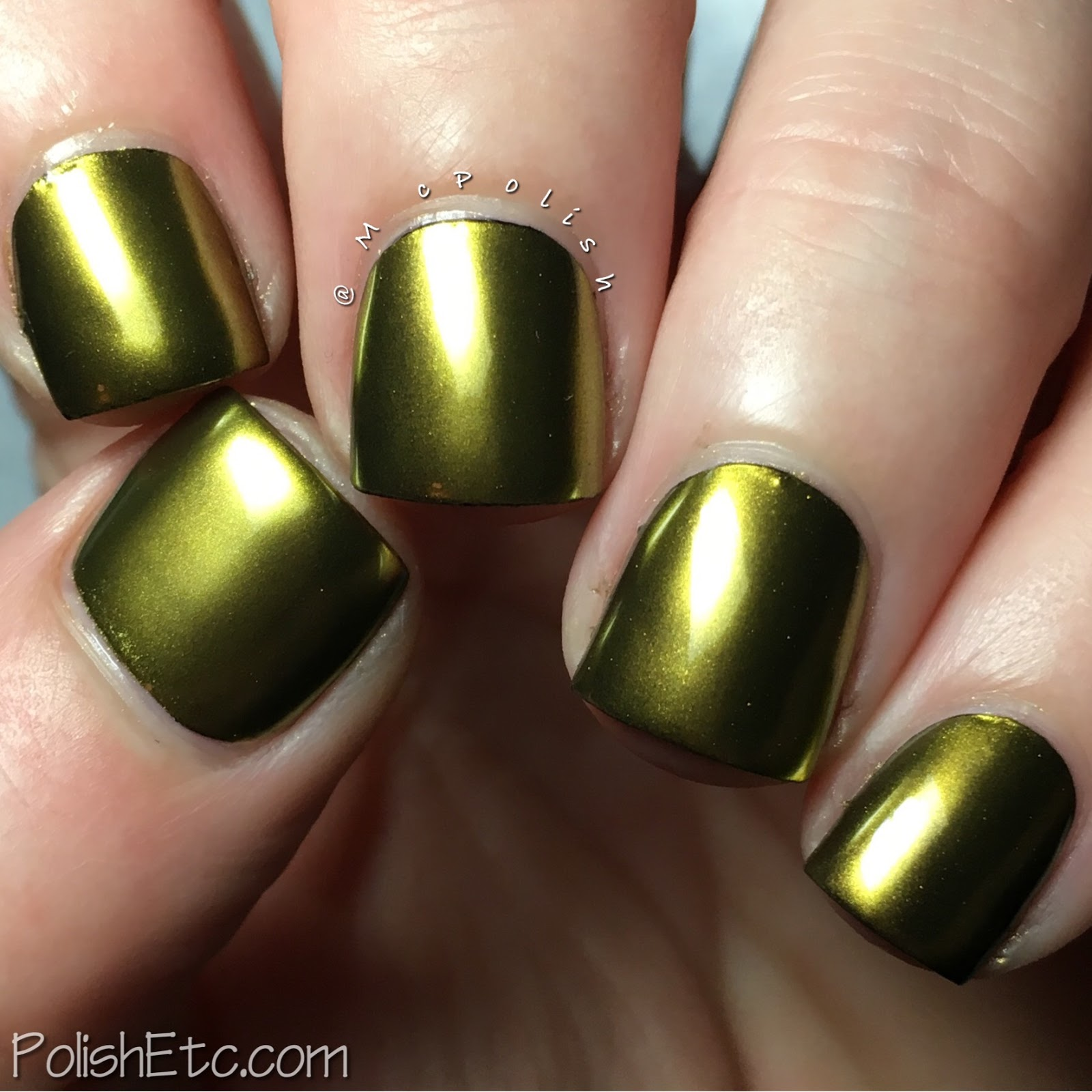 Gold Metallic Nails for the #31DC2017Weekly - McPolish - Born Pretty Store gold powder