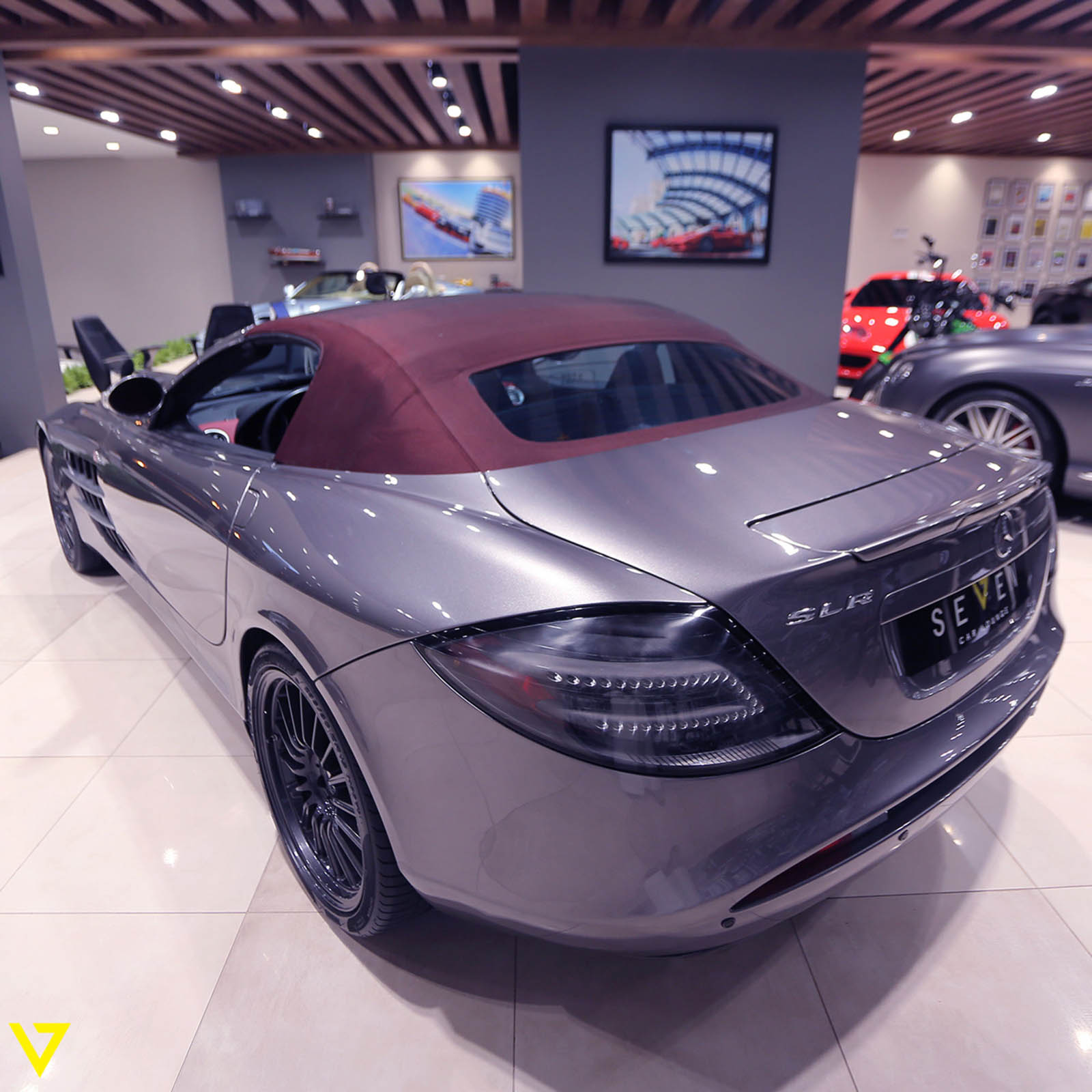 this rare mercedes slr 722 s roadster needs a new home. Black Bedroom Furniture Sets. Home Design Ideas