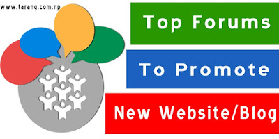 Top forums to promote your New Website Or Blog