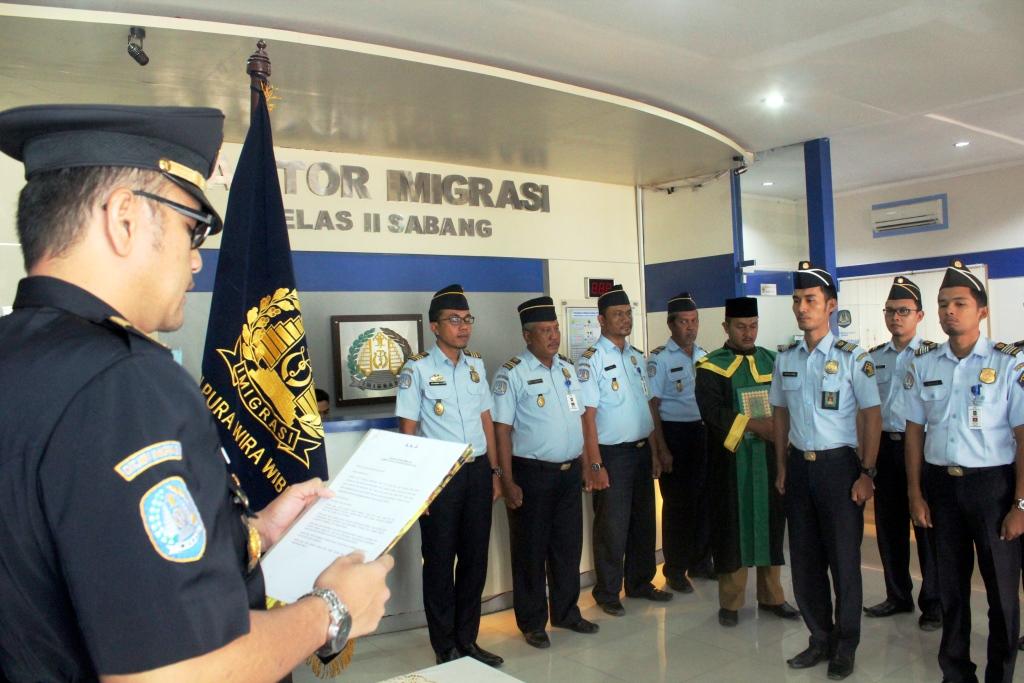 Pengambilan Sumpah PNS Kantor Imigrasi Kelas II Sabang