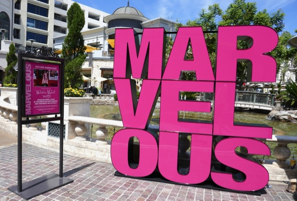 Marvelous Mrs Maisel Emmy FYC sign The Grove