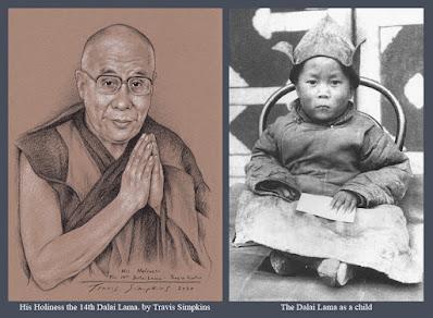 His Holiness the Dalai Lama. Tenzin Gyatso. Tibetan Buddhism. by Travis Simpkins