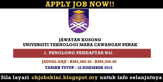Jawatan Kosong Universiti Teknologi MARA (UiTM) Perak