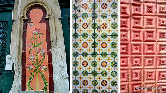 Azulejos portugueses em Aveiro, Portugal