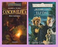 portadas del libro de fantasía Canción élfica, de Elaine Cunningham