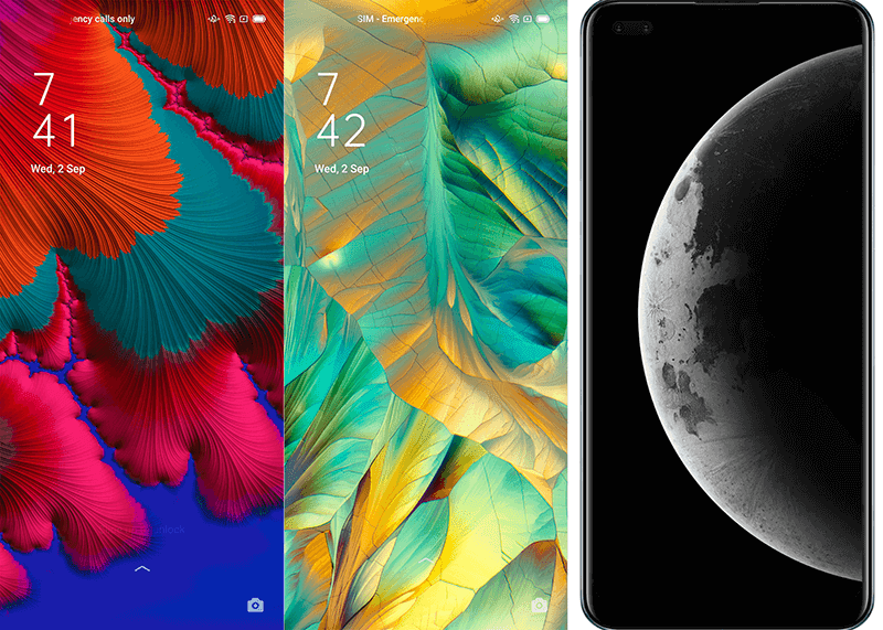 ColorOS 7.2 brings more than 30 sets of wallpapers