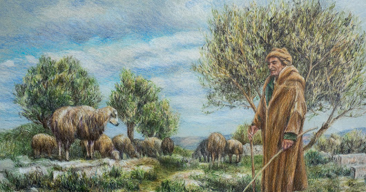 Tending the Sheep by the Roman Ruins