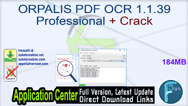 ORPALIS PDF OCR 1.1.39 Professional + Crack