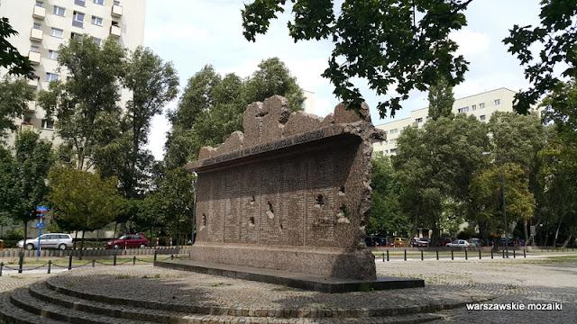 Wola Warszawa Warsaw powstanie warszawskie 1944 Pomnik Pamięci Ludności Woli Wymordowanej w Czasie Powstania Warszawskiego
