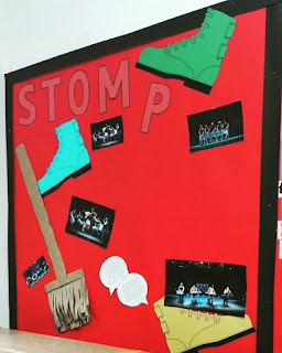 Stomp Display Board before student reviews were added