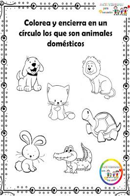 fichas-trabajar-animales-domesticos-preescolar