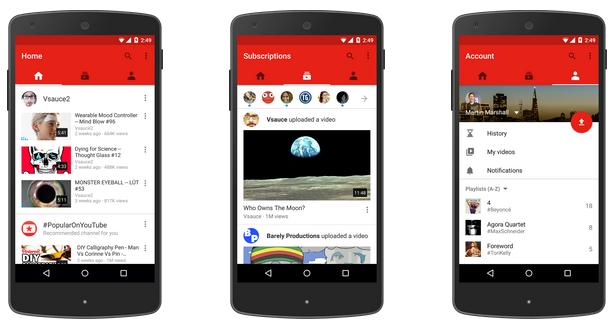 YouTube Mobile App Redesigned