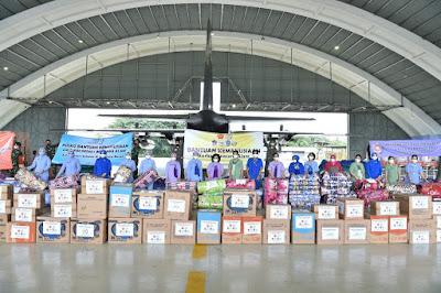 Ketua Umum Dharma Pertiwi Salurkan Bantuan Untuk Korban Bencana Alam Kalsel dan Sulbar