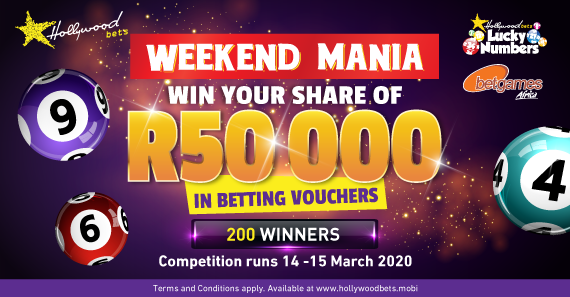 R50 000 Weekend Mania - Terms and Conditions