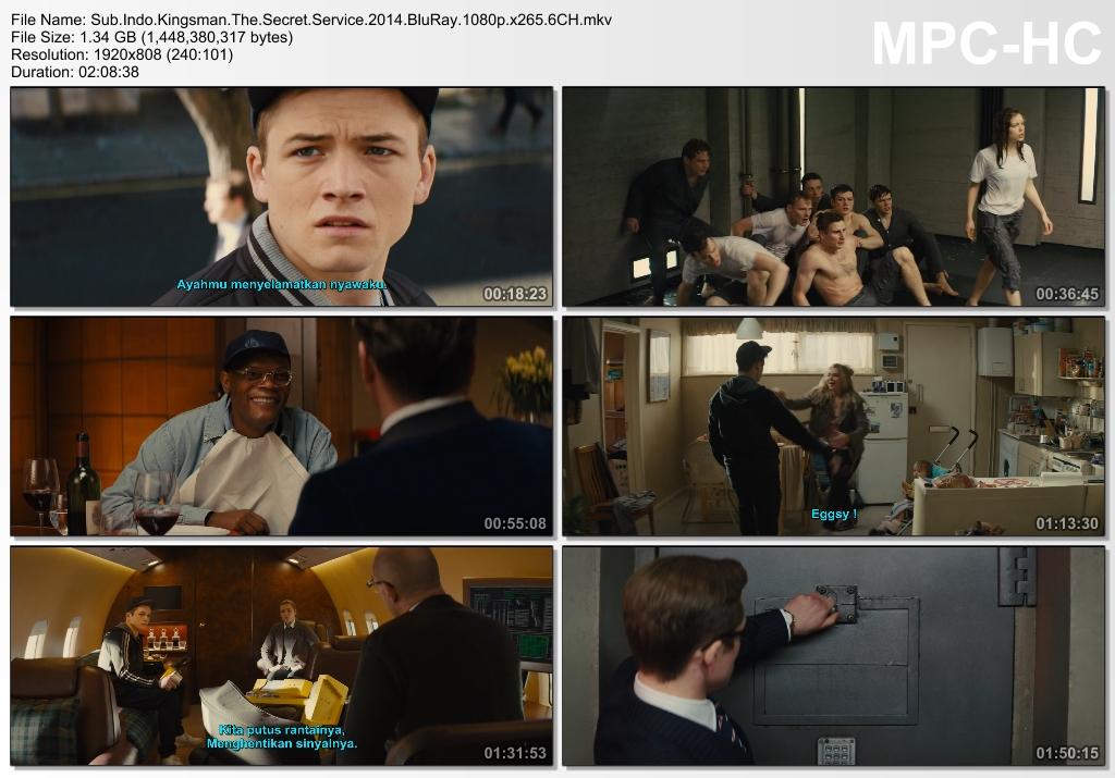 Screenshots Download Film Gratis Kingsman: The Secret Service (2014) BluRay 1080p X265 HEVC 6CH Subtitle Indonesia MKV Nonton Film Gratis Free Full Movie Streaming