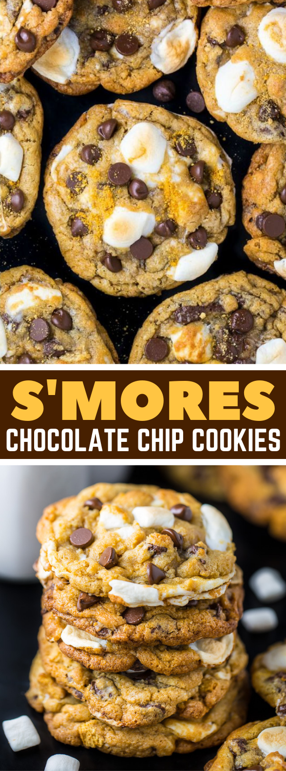 S'mores Chocolate Chip Cookies #chocochip #bestcookies
