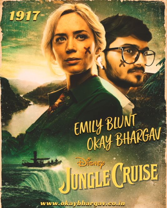 Jungle Cruise Movie Poster Edited by Okay Bhargav Free PSD Download