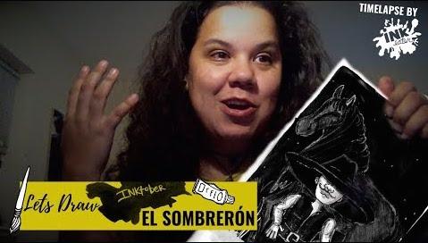 Lets Draw El Sombrerón - Latin X-Files - #Inktober 2019 - Day 02