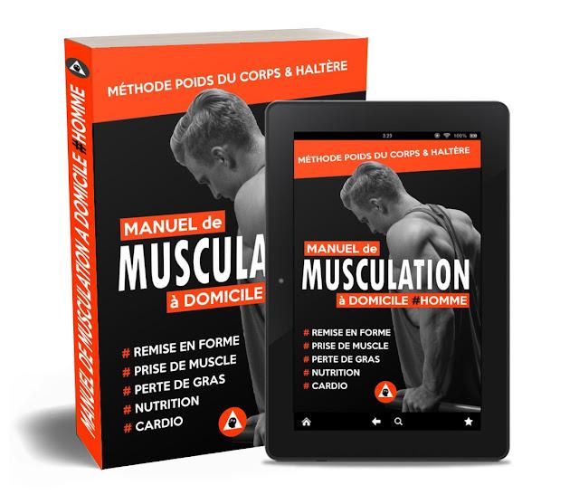 manuel de musculation à domicile homme: méthode poids du corps et haltère