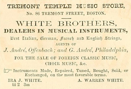 1853 White Brothers Ad