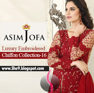 Asim Jofa Luxury Embroidered Chiffon 2016 Considered the Best Designs For The Year