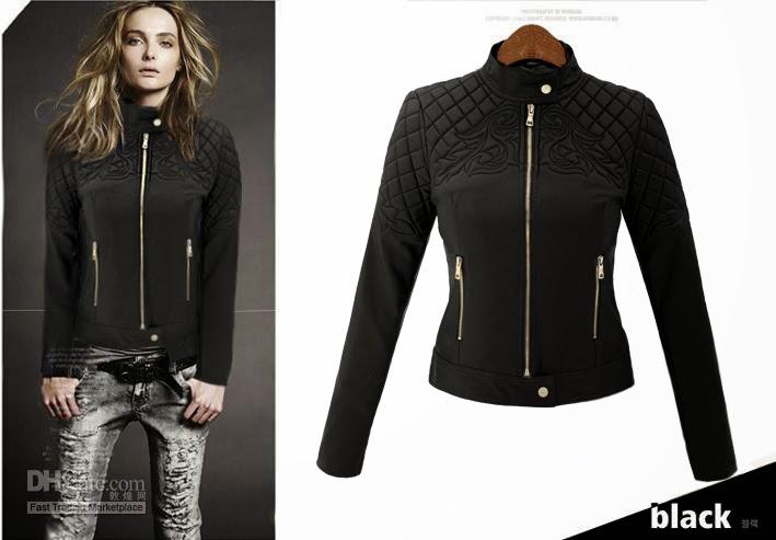 357788f0ad1bb stylizacja kurtka damska pilotka pikowana skóra na motor biker jacket  ornamenty model #94 w sklepie fashionavenue.pl