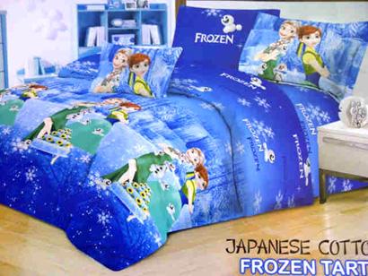 Sprei Katun Jepang Frozen Biru