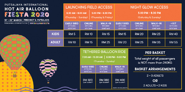 Tickets for Putrajaya Hot Air Balloon Fiesta