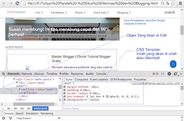 cara edit dan mengubah template blog