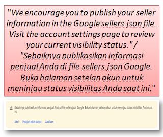 Sebaiknya publikasikan informasi penjual Anda di file sellers.json Google. Buka halaman setelan akun untuk meninjau status visibilitas Anda saat ini