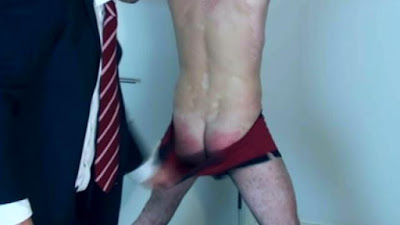 Matt takes a hard whipping in a gay spanking video made by No Way Out Punishment