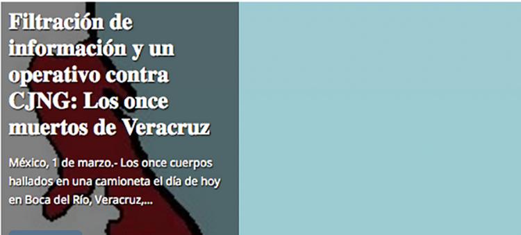 11 cuerpos en Veracruz, el CJNG los ejecuto por soplones