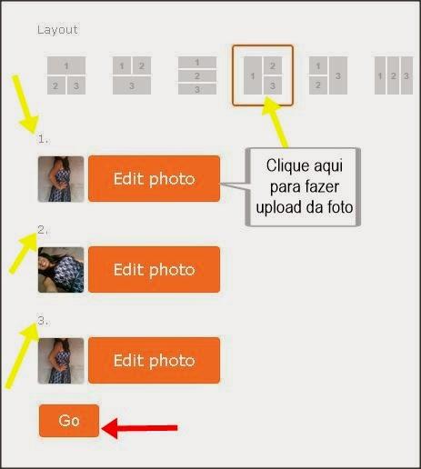 carregar imagem para fazer montagem com três fotos