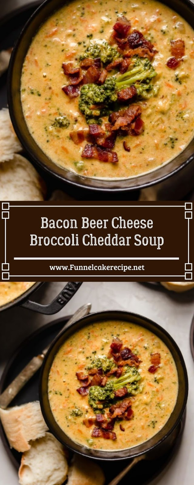 Bacon Beer Cheese Broccoli Cheddar Soup