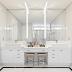 Banheiro com decor clássico repaginado branco e dourado com penteadeira e bacia reservada!